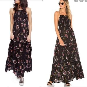 Free people garden party maxi dress black M